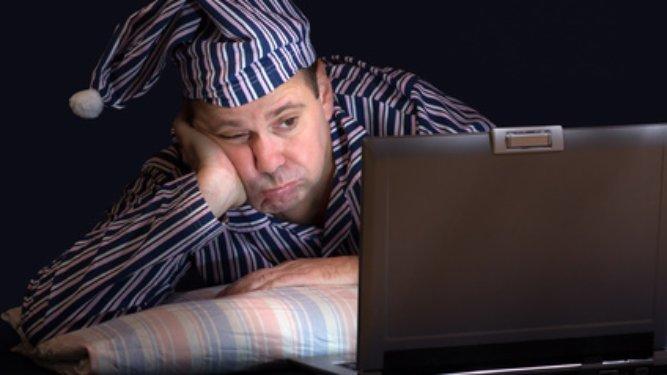 schlaflos durch PC Nachtarbeit